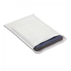 EMBALLAGE Boîte de 100 pochettes matelassées en kraft blanches bulles air format 22 x 33 cm