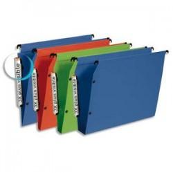 ESSELTE Paquet de 10 dossiers suspendus ARMOIRE en polypro opaque. Fond 50, bouton-pression. Assortis