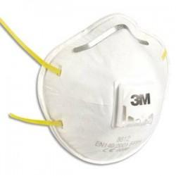 3M Boite de 10 masques de protection respiratoire FFP1, élastique large et réglable K8812
