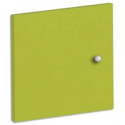 MT INTERNATIONAL Lot de 2 Portes + Fonds pour multi-cases MT1 Elégance - Dim. L32,5 x H33 x P1,6 cm vert