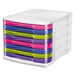 CEP Module de classement 8 tiroirs 398HM - Dimensions L29,2 x H24,6 x P38,6 cm multicolore