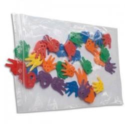 EMBALLAGE Paquet de 100 sacs, fermeture rapide en polyéthylène 50 microns - Dim. 25 x 35 cm transparent