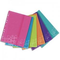 LEITZ Sachet de 6 pochettes perforées WOW en polypropylène A4. Coloris assortis