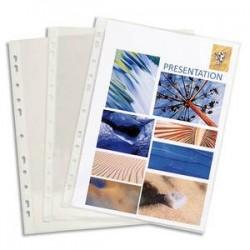 EXACOMPTA Boite de 100 pochettes perforées en PVC 8/100ème