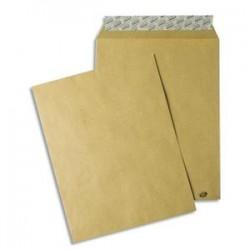 GPV Paquet de 50 pochettes kraft brun auto-adhésives 85g format C4 229 x 324 mm