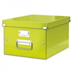 LEITZ Boîte CLICK&STORE M-Box. Format A4 - Dimensions : L281xH200xP369mm. Coloris vert Wow.