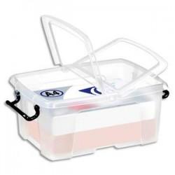 CEP Boîte de rangement Smart Box Strata avec couvercle clipsé dims int.22,1x31,5cm transparent 12L