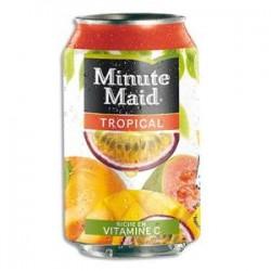 MINUTE MAID Canette de jus saveur tropical de 33 cl