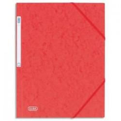 ELBA Chemise 3 rabats et élastique Eurofolio , en carte lustrée 5/10e rouge