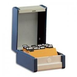 REXEL Boîte à fiches Provence format A6 en largeur H105 x P148 mm gris, livré avec séparateur métallique