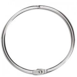 NEUTRE Sachet de 5 anneaux brisés en métal , diamètre 64 mm