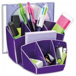 CEP Pro Multipot Gloss 6 compartiments + 2 espace - Dimensions L14,3 x H9,3 x P15,8 cm coloris violet