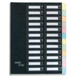 EMEY Trieur EMEY JUNIOR en carte, 24 compartiments. Coloris noir.
