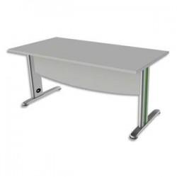 SIMMOB Bureau rectangle avec VDF Scenario tonique - Dim L160 x H72 x P80 cm coloris Blanc perle Vert anis
