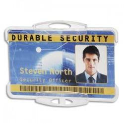 DURABLE Boîte 10 Porte-carte ouvert pour 1 carte, perfo ss attache - L8,5 x H 5,4 cm transparent 8918-19-