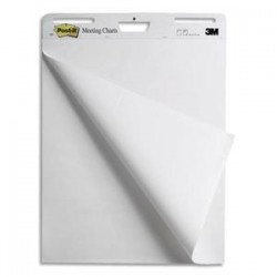 POST-IT Lot de 2 + 1meeting-chart format 63,5 x 77,4 cm 30 feuilles BP789