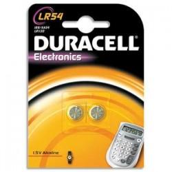 DURACELL Blister de 2 piles Alcalines LR54 Duralock pour appareils électroniques 5000394052550