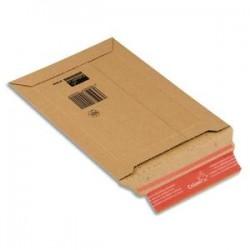 COLOMPAC Pochette d'expédition rigide en carton brun - Format : 15 x 25 cm, hauteur 5 cm