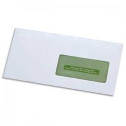 GPV boite de 500 enveloppes recyclées extra blanches Erapure, format DL 110x220mm fenetre 45x100mm 80g