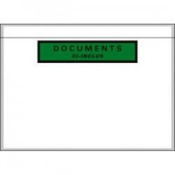 EMBALLAGE Boîte de 1000 Pochettes document ci-inclus recyclées - Format C5 : 225 x 165 mm transparent