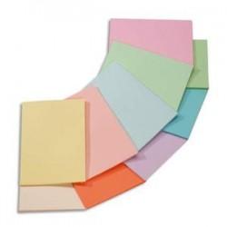 CLAIREFONTAINE Ramette 5x100F papier Trophée 80g A4 assortis intense soleil,menthe,cardinal,bleuT,fuschia