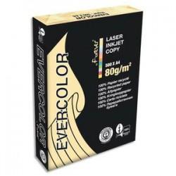 CLAIREFONTAINE Ramette de 500 feuilles papier couleur recyclé EVERCOLOR 80gr format A4 ivoire 40259