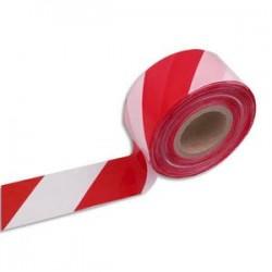 VISO Ruban non adhésif indéchirable rouge et blanc 500m x 8cm