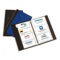 ELBA Sachet de 10 pochettes de 4 vues transparentes pour cartes de visite Elégance - Format 12,8 x 6,3 cm