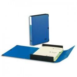 ARIANEX Chemise Innovation , dos 8 cm, trieur 9 onglets, recouverte de PVC bleu, coins métal