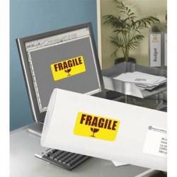 AVERY Boite de 350 Etiquettes laser rectangulaire enlevables 99.1x38.1mm coloris jaune fluo L7263Y-25