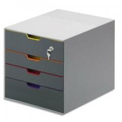 DURABLE Module de classement Varicolor Safe avec serrure à clé, 4 tiroirs. Dim. L28 x H29,2 x P35,6 cm