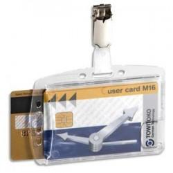 DURABLE B/25 Portes-badge avec clip pour 2 cartes de sécurité