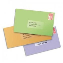 AVERY Boîte de 1625 étiquettes laser invisible 38X21 L7551-25