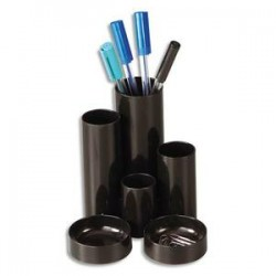 DEFLECTO Pot à crayons multifonctions noir