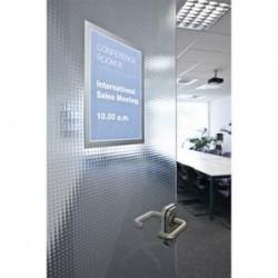 'DURABLE Sachet de 2 cadres d'affichage magnétiques Duraframe, format A3, coloris gris argenté