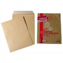 GPV Paquet de 10 pochettes kraft armé 130g C4 simple 38021
