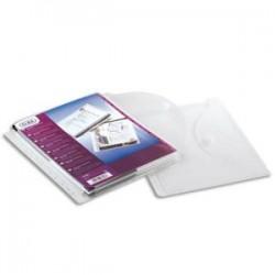 ELBA Sachet de 10 pochettes-enveloppe perforées en polypro 20/100, fermeture velcro. Format A4, 11 trous.