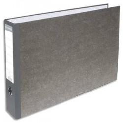 EXACOMPTA Classeur à levier en carton gris A4 à l'italienne dos 70mm