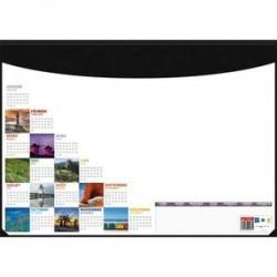 CBG Socle sous-mains en pvc noir avec recharge mosaique perpétuel - format : 40,5 x 5 cm