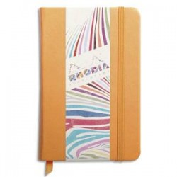 RHODIA Carnet RHODIArama 9x14cm 192 pages unies. Couverture rembordée orange