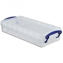 RUB Boîte de rangement de 0,55 Litre + couvercle pour Stylos et crayons - L22 x H4 x P10 cm transparent