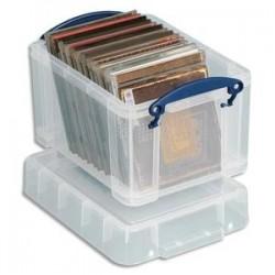 RUB Boîte de rangement de 3 Litres + couvercle - Dimensions : L24,5 x H16 x P18 cm coloris transparent