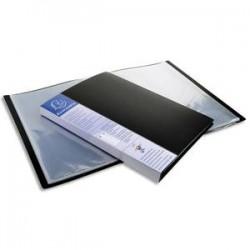 EXACOMPTA Protège-documents UPLINE en polypropylène opaque. 40 vues, 20 pochettes. Coloris noir.
