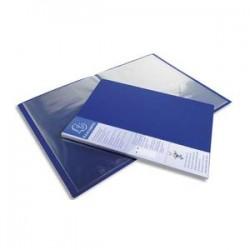 EXACOMPTA Protège-documents UPLINE en polypropylène opaque. 60 vues, 30 pochettes. Coloris bleu.