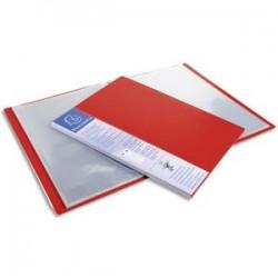 EXACOMPTA Protège-documents UPLINE en polypropylène opaque. 80 vues, 40 pochettes. Coloris rouge.