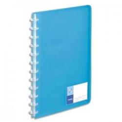 VIQUEL Protège-documents MAXI GEODE en polypro translucide 7/10. 60 vues, 30 pochettes. Coloris bleu.