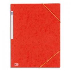 ELBA Chemises à 3 rabats élastiques / carte lustrée / Rouge