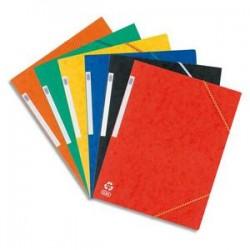 ELBA Chemises à 3 rabats à élastiques en carte lustrée 390g. Coloris assortis 6 couleurs.