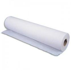 HYGIENE Lot de 12 Rouleaux Draps d'examen 2 plis 135 formats 34 x 50 cm - L45,9 m, bobine D10,5 cm blanc