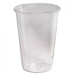 HUHTAMAKI Sachet de 100 gobelets 20 cl transparent Biodég.en Polyactide Hauteur 9,6 cm Diamètre 7,03 cm
